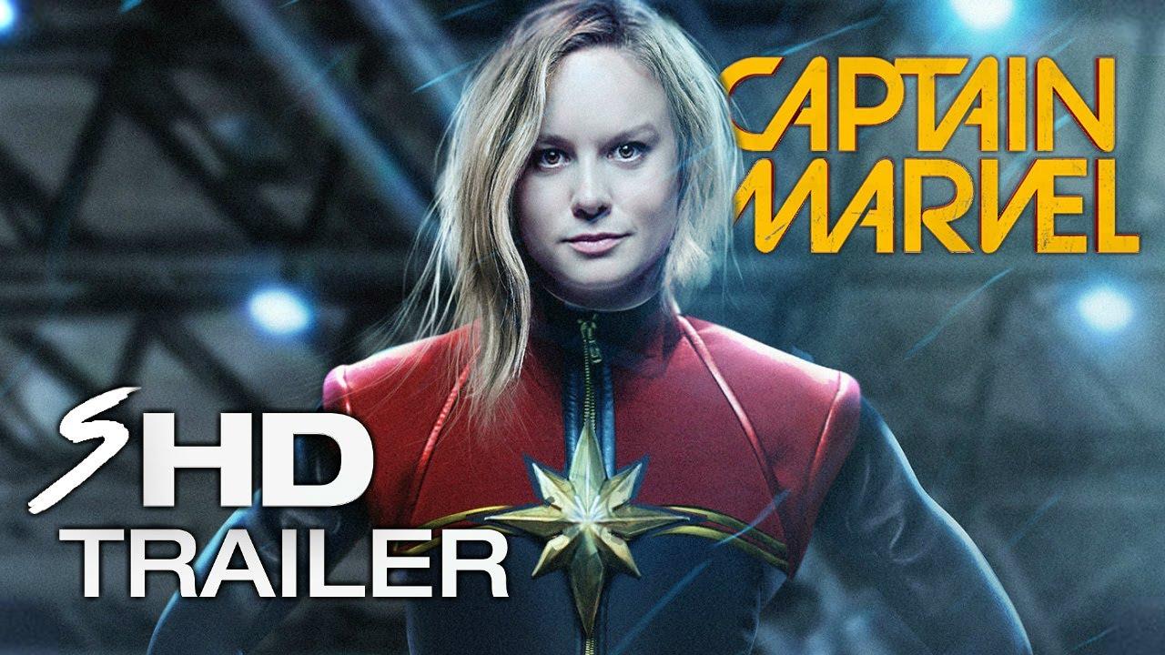 Marvels Captain Marvel 2019 Concept Brie Larson Movie Trailer Fan Made