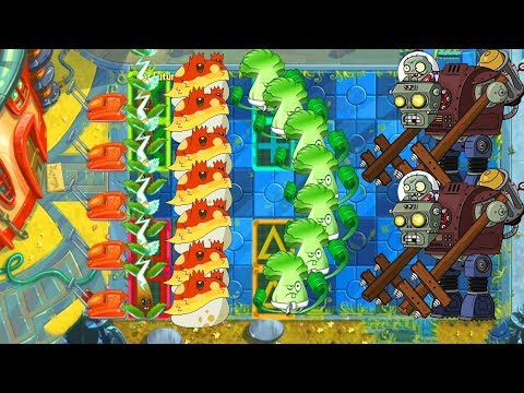 Electric Tea vs Bonk Choy vs Toadstool vs 999 Zombies pvz 2