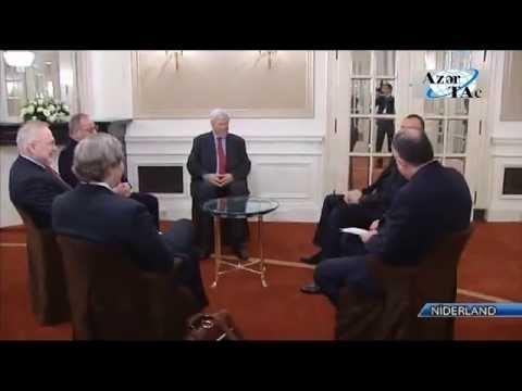 Президент Ильхам Алиев встретился в Гааге с сопредседателями Минской группы ОБСЕ