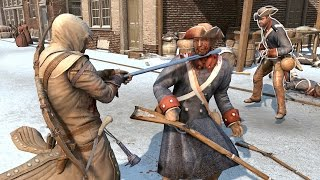 Assassin's Creed 3 Achilles Outfit Combat & Free Roam in New York