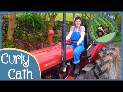 Driving Along In My Little Red Tractor | Location Songs | Curly Cath