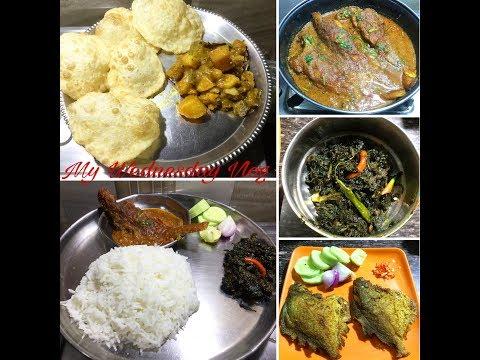 My Wednesday Vlog | Bengali Veg/Non-veg Dishes | Indian Daily Routine Vlog - Bengali Video #37