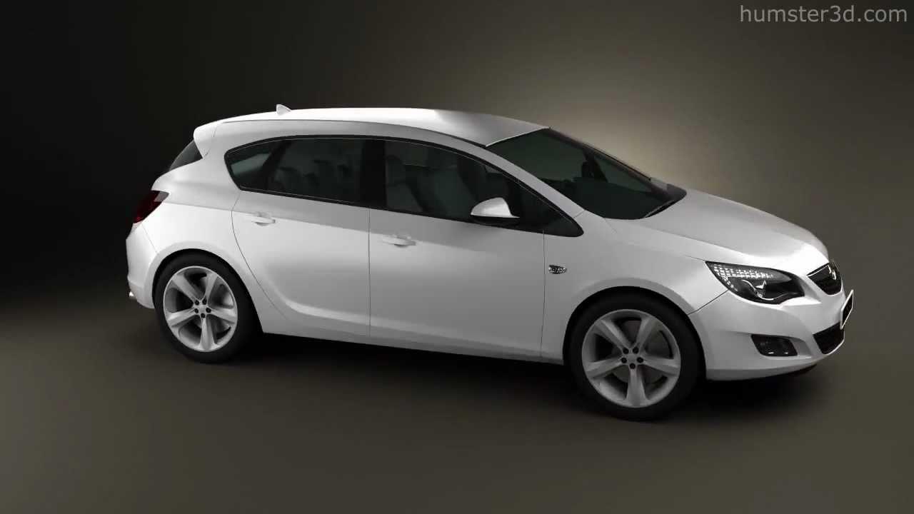 Opel Astra 2011 Hatchback 5-door 2011 by 3D model store ...