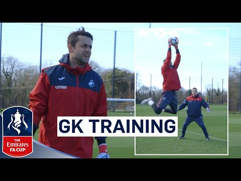 Swansea Goalkeepers Prepare for Tottenham | Goalkeeper Training | Emirates FA Cup 2017/18