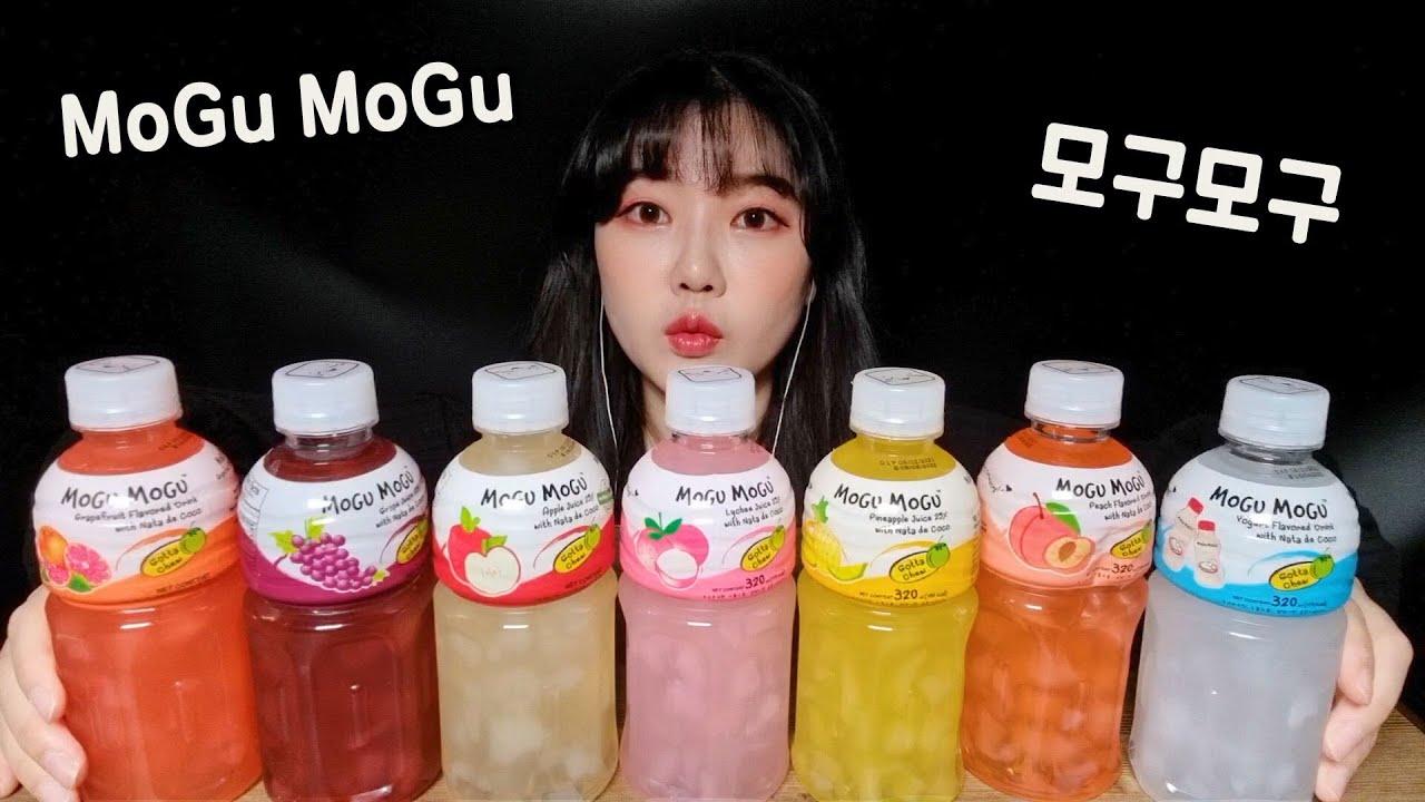 ASMR Mogu Mogu Drinks Real Sound Mukbang もぐもぐ모구모구 음료수 먹방 (Eating Sound) Mogumogu Beverage