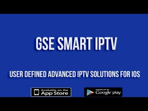 GSE SMART IPTV Version 1.7 for IOS (IPHONE/IPAD) Preview