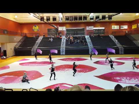 Kell High School North Gwinett Color Guard Competition 2017