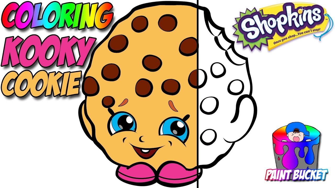 Shopkins Coloring Book Season 1 Kooky Cookie Coloring Pages For