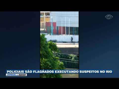 Policiais são flagrados executando suspeitos no RJ
