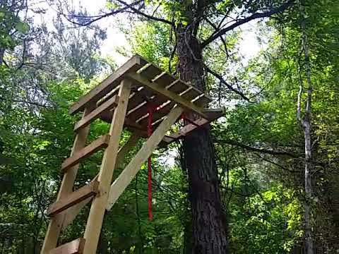 Homemade Wooden Ladder Stand Youtube