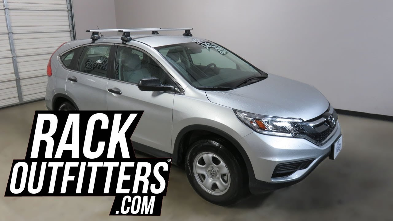 2012 to 2016 Honda CRV with Thule Rapid Traverse AeroBlade Roof Rack Crossbars - YouTube