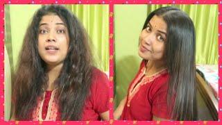 Bengali Vlog # বাড়িতে বসে নিজেই নিজের চুল কিভাবে permanent straight করবেন