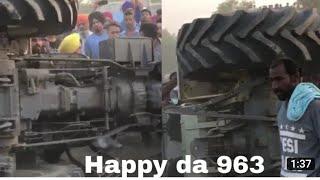 Happy Mahla Tractor Stunt Failed & Car Accident