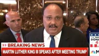 """""""It's Insanity We Have Poor People In This Nation!"""" MLK III After Meeting With Donald Trump"""