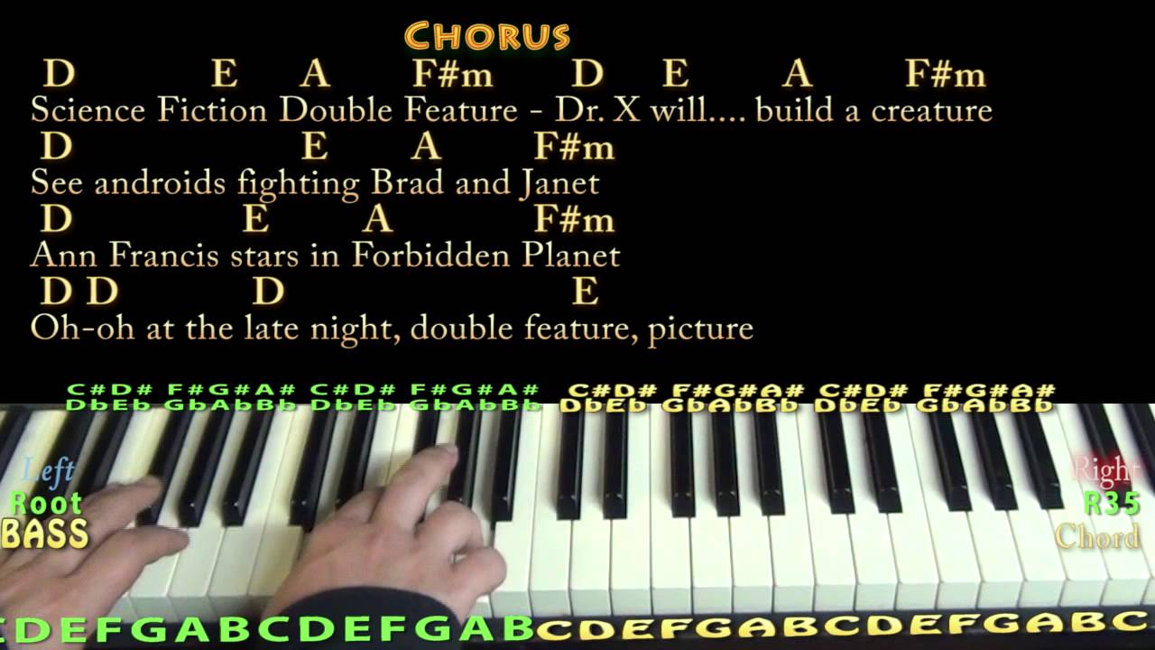 Science fiction double feature rocky horror piano cover lesson science fiction double feature rocky horror piano cover lesson with chords lyrics hexwebz Image collections