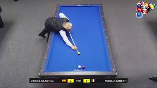 3 Cushion Billiard Marco Zanetti vs Daniel Sanchez Billar 2017 P 1