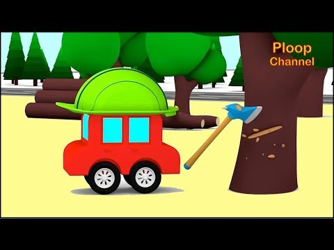 Thumbnail: Cartoon Cars - FASTEST Wood Chopper? - Children's Cartoons - Childrens Animation Videos for kids