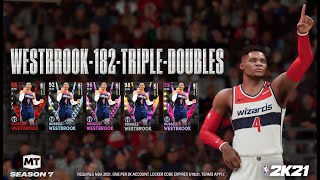 FASTEST & EASIEST WĄY TO GET TRIPLE DOUBLES for FREE DARK MATTER WESTBROOK in NBA 2K21 MyTeam!