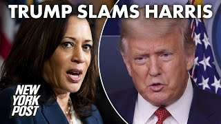 Trump calls Kamala Harris a 'mad woman,' claims Dems want to tear down Empire State Building