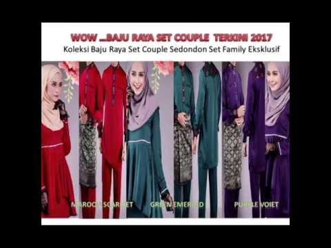 Fesyen Trend Terkini Baju Raya Baju Melayu Moden & Sedondon Cantik Tahun 2017 .. MeleTOP