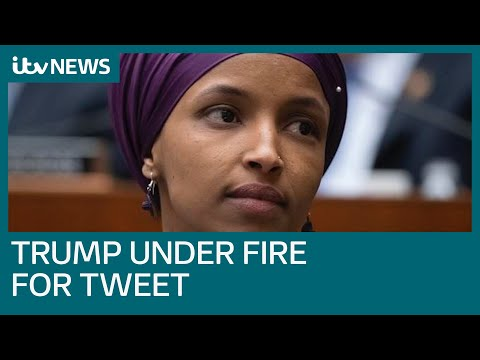 Ilhan Omar claims 'increase in threats' on her life after Trump tweet | ITV News