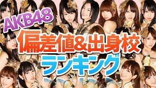 【衝撃の結果に!】 AKB48 出身校別偏差値ランキング!! thumbnail