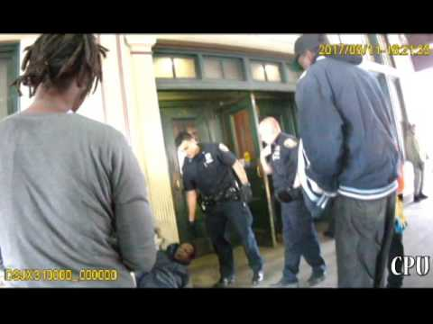 MTA - Police Takes Down A Homeless Man Outside Of Metro North Station