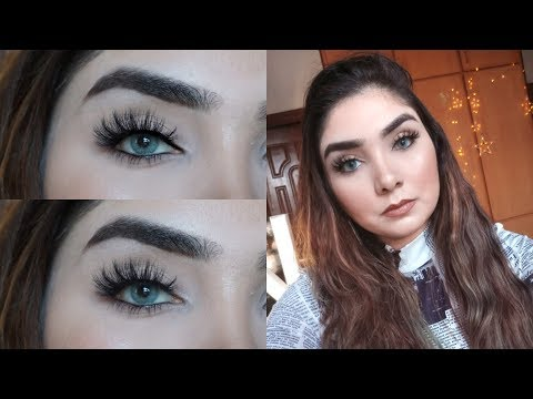 How to apply Lashes For Beginners || Nishoo Khan