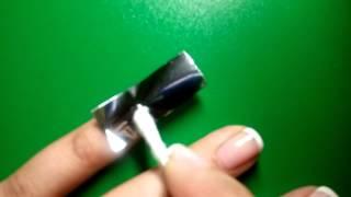 Серебрянная фольга.Фольга для ногтей. Как наклеить? Маникюр. Новогодний маникюр. Nail дизайн