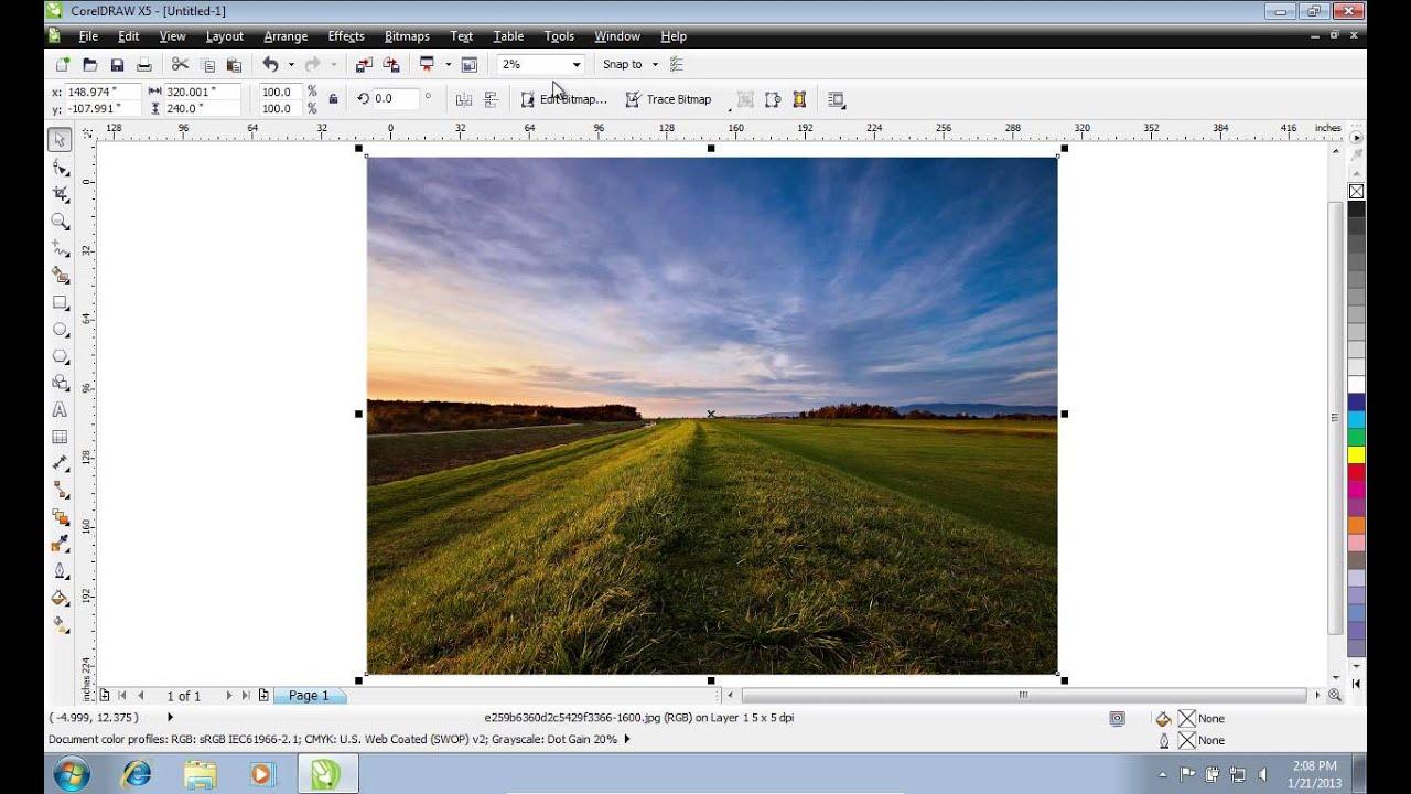 How to Crop Image in CorelDraw