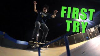First Try Friday - Big Spin Boardslide Rick Molina