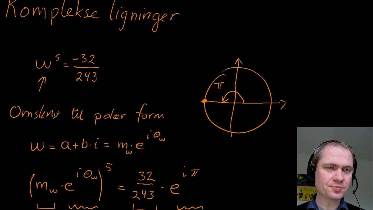 Komplekse ligninger - et eksempel