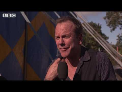 Kiefer Sutherland at Glastonbury