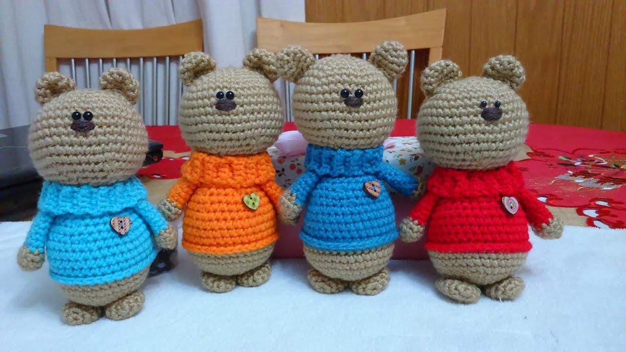 Amigurumi Oso Pijama : Oso corazon a crochet amigurumi version diestro parte youtube