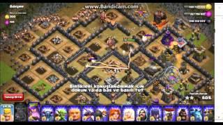 hileli clansh of clans oynuyoruz 1000 barbar saldırısı
