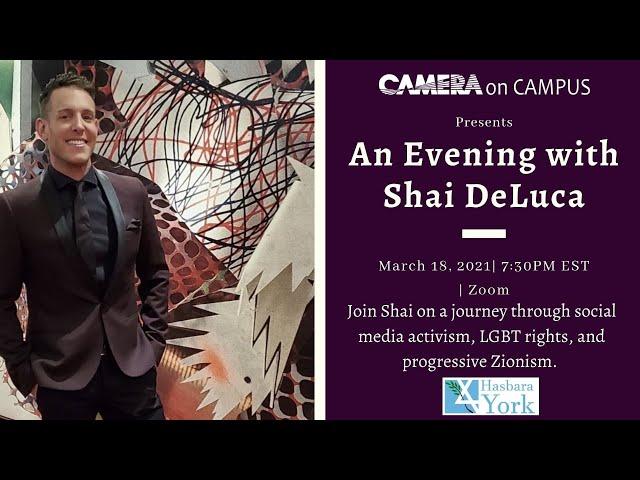 An Evening with Shai DeLuca: Social Media Activism, LGBT Rights, and Progressive Zionism