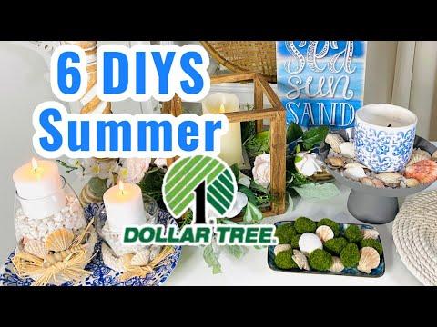 💙6 DIY Dollar Tree SUMMER DECOR CRAFTS~💙Romantic Home DIY