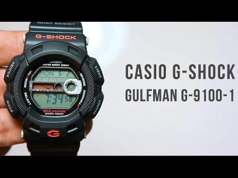 Casio G-shock Gulfman G-9100-1 : Titanium metal