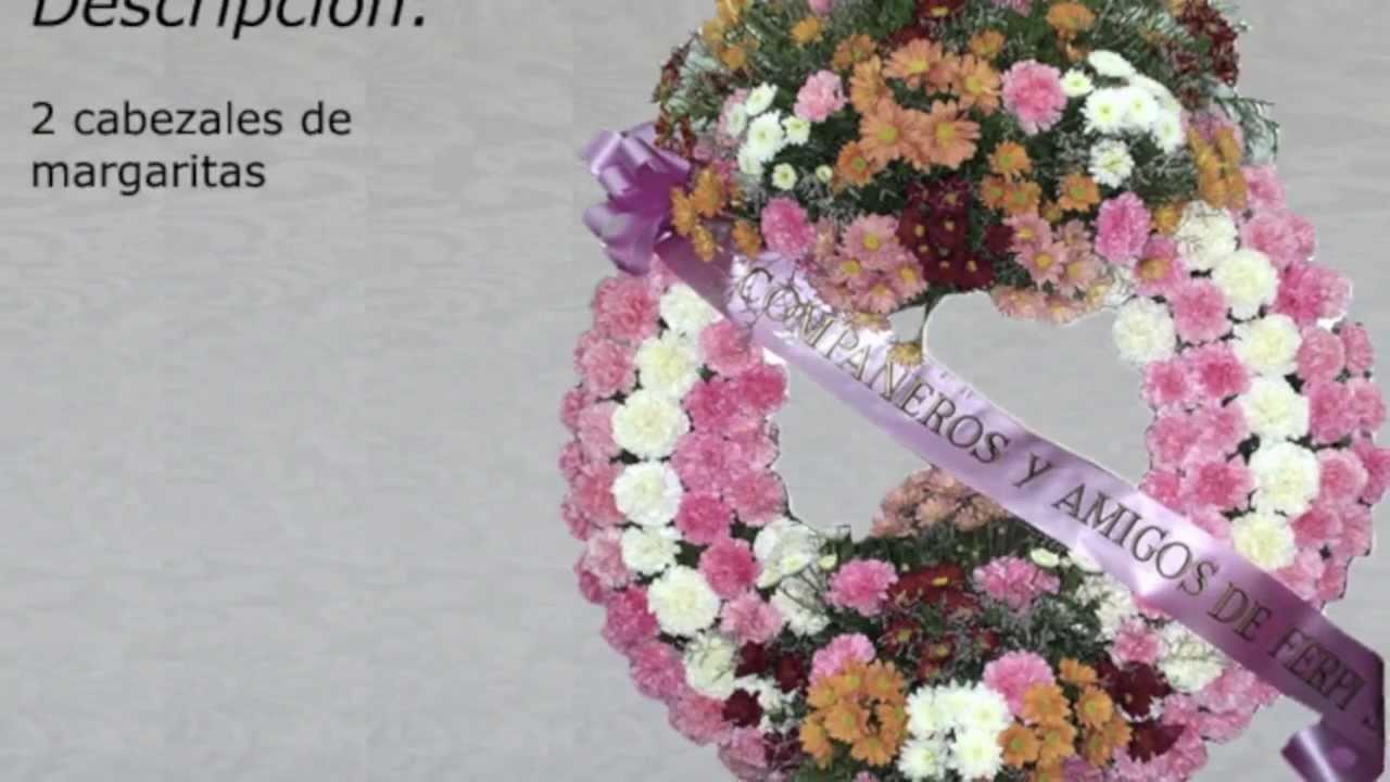 Flor para entierros coronas flores aida youtube - Coronitas de flores ...