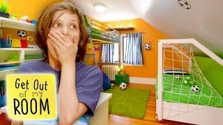 Boy Transforms Bedroom Into Soccer #GOALS | Get Out Of My Room | Universal Kids