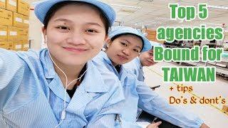 Mga Agencies papuntang taiwan, mabilis magpalipad|Goodluck