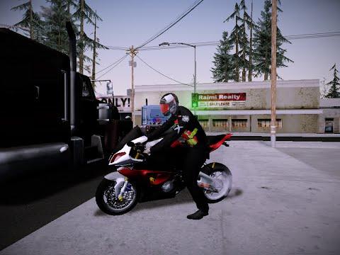 GTA ตำรวจสายตรวจ BMW S1000rr Red [บิ๊กไบค์ ท่าขับ เสียง แจก]