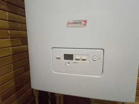 Как установить температуру на газовом котле протерм