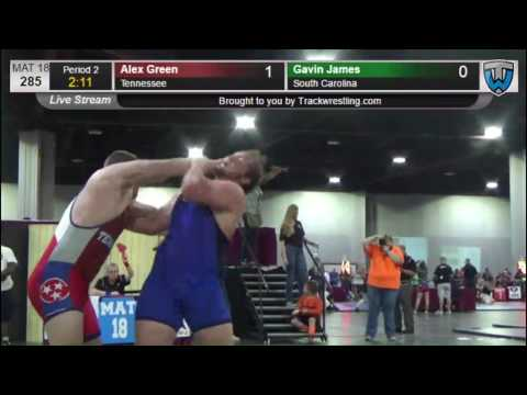 1110 Junior Men 285 Alex Green Tennessee vs Gavin James South Carolina 3614090104