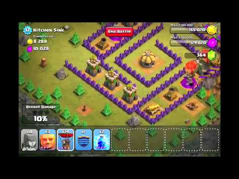 Clash of Clans Level 46 - Kitchen Sink - YouTube
