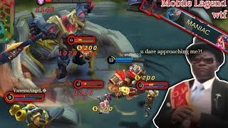 WTF Mobile Legends Funny Moments |300 IQ Tank but no SAVAGE