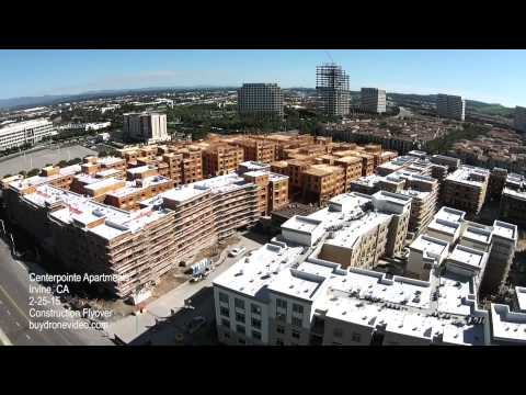 Centerpointe Apartments - Irvine, CA - Construction Flyover - 2-25-15