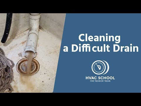 Cleaning a Difficult AC Condensate Drain