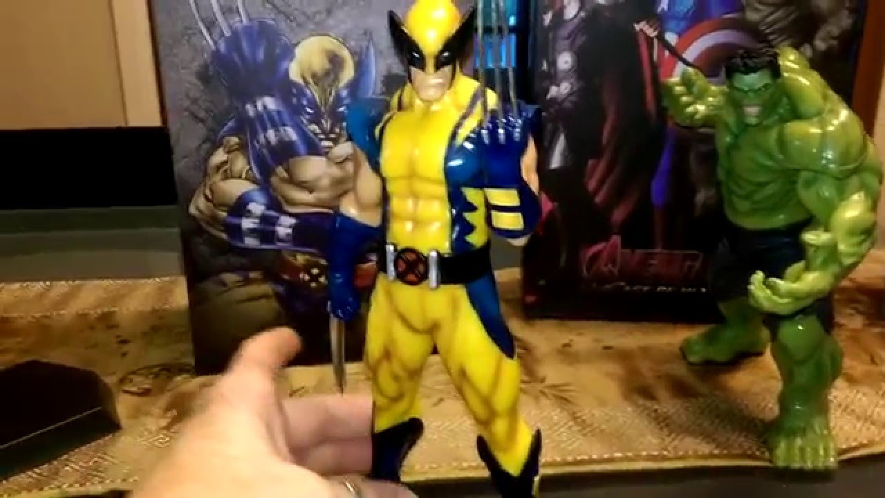 "Wolverine Marvel Crazy Statue 7/"" X-MEN Astonishing Action Figure Toys Hot"