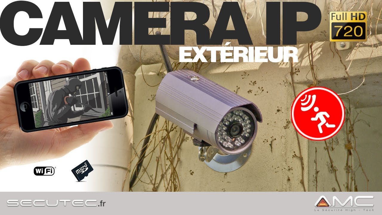 Camera De Surveillance Exterieur Sans Fil Iphone Camera Ip Wifi Hd 720p Avec AccÈs Smartphone Sur Iphone Android Secutec Fr